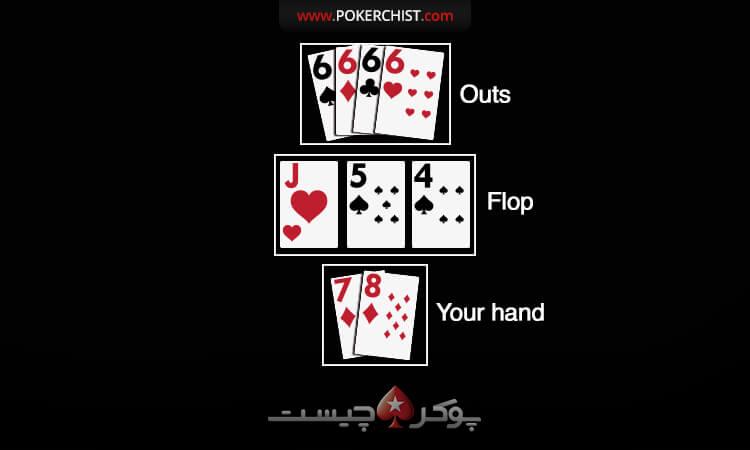 outs در بازی پوکر