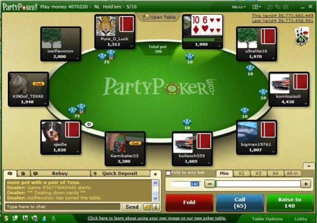 پوکر آنلاین party poker